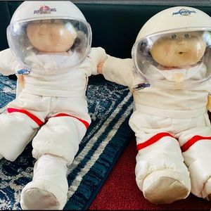 2 -1970-80's Cabbage Patch Astronaut Dolls